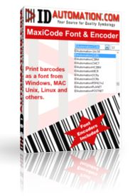 MaxiCode Font and Encoder Advantage Package