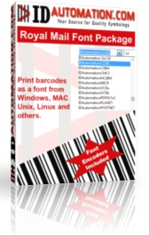 Royal Mail 4 State Barcode Fonts