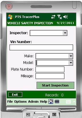 Vehicle Safety Inspection Mobile Kit - Barcode Mobile Applications